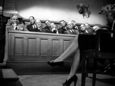 82 percent of women confessed to owning some knock-off shoes. Ginger Rogers in Roxie Hart, 1942.