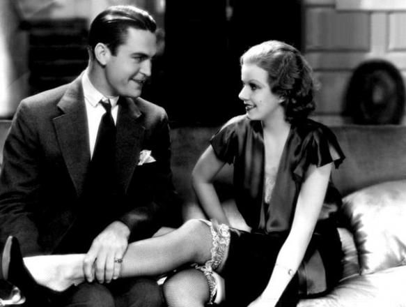 1 in 5 women say they're more turned on by a pair of shoes than their lover.  Jean Harlow and Chester Morris in Red Headed Woman, 1932.