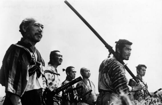 Still from The Seven Samurai, a Japanese film that speaks to the American love of liberty.