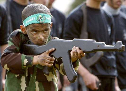 When Hamas is not murdering its own children, the IslamoNazi terror group is turning them into Jew-haters.