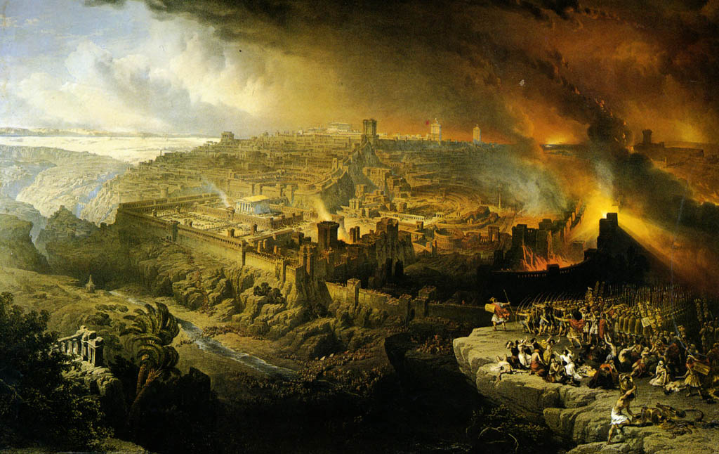 Destruction of Jerusalem by the Romans under the Command of Titus AD September 71. Yeshiva University Museum, New York.