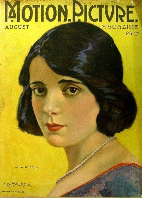 Alma Rubens cover, Motion Picture magazine, August 1920.