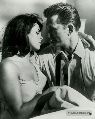 "Hollywood knows how to make Zionism sexy. Senta Berger and Kirk Douglas in ""Cast a Giant Shadow."""