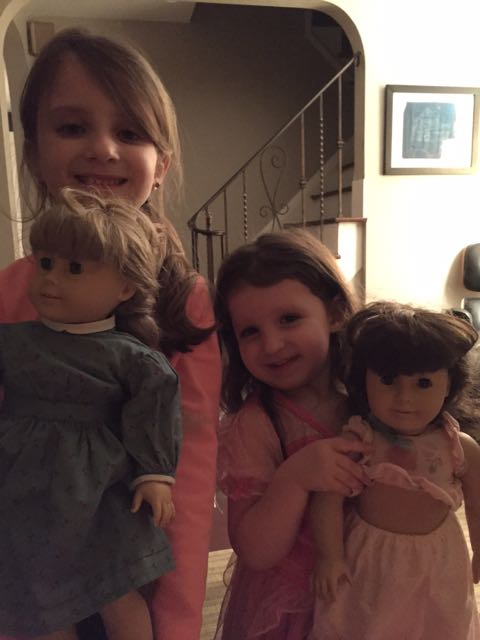 Maayan Ariel and Lielle Meital are not yet interested in baseball. Their American Girl dolls get their full attention these days. The girls wish all our friends and relatives a lovely and meaningful Shabbat.