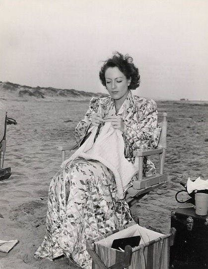The best known knitter in Hollywood was Joan Crawford.