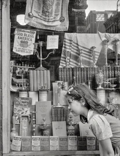 Religious shop on Broome Street, NY, 1942.