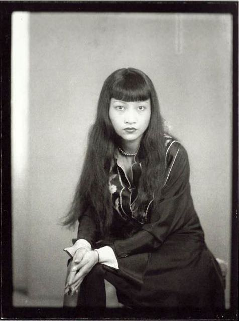 The great American-Chinese actress Anna May Wong photographed by Man Ray (b.Emmanuel Radnitzky) 1930.