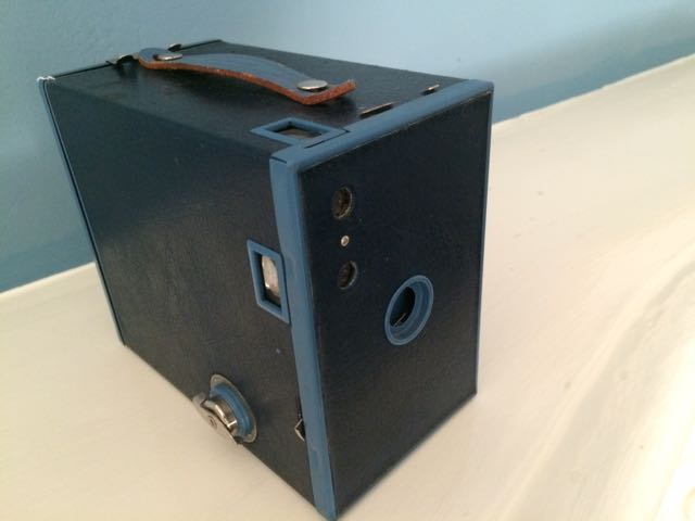 A classic Brownie camera given to me as a gift by a Seraphic Secret reader. Thank you, Stephanie!