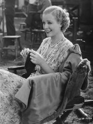 "Silent star Gloria Stuart passes time knitting. In fact, Stuart achieved her most enduring fame for her role as Old Rose in ""Titanic"" 1997."