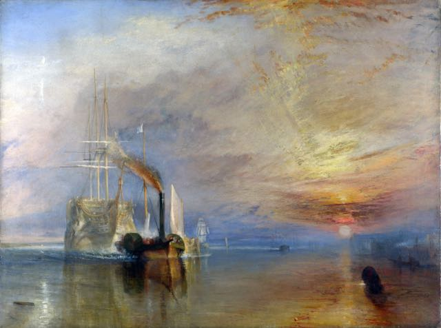 The Fighting Téméraire, by J.M. Turner.