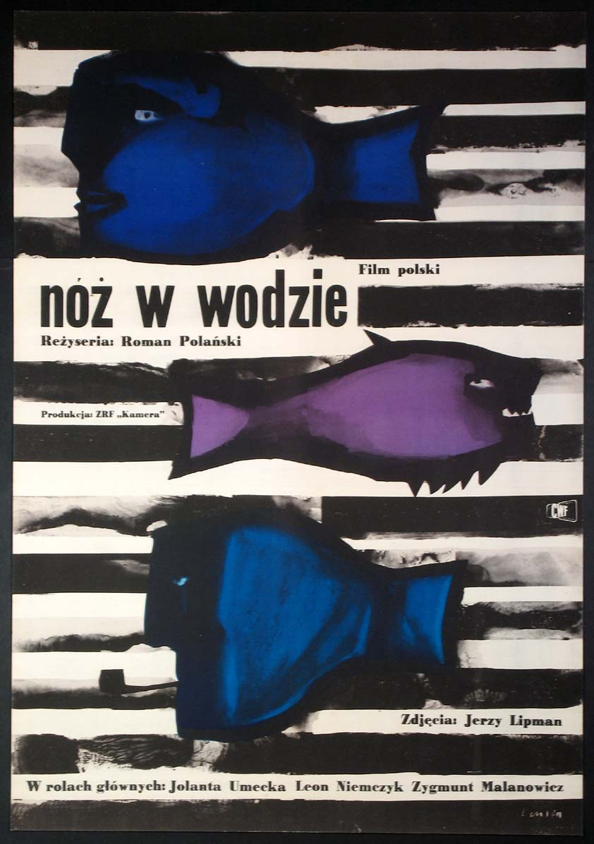 Polish poster for Knife in the Water.