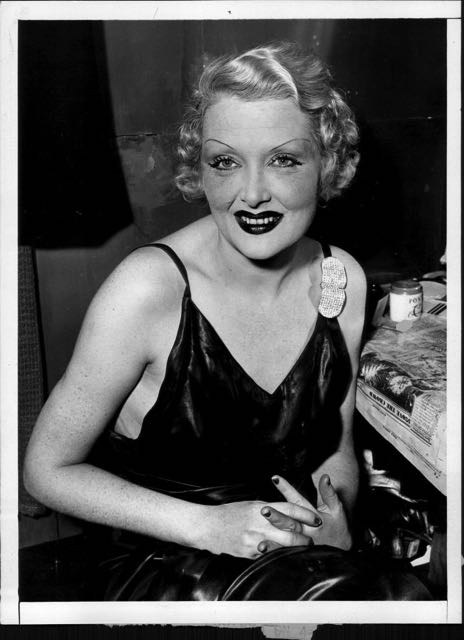 Nolan put together a night club act. She sang, she told stories of her glory days as a Ziegfeld girl and a Hollywood star. She was also a heroine addict. The picture was taken in 1937. Nolan was but 35 years old.  In 1948, her body was discovered in her small apartment, dead from an overdose of Seconal. She was 48 years old.