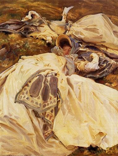 """Two White Dresses"" by John  Singer Sargent, completed in 1911."