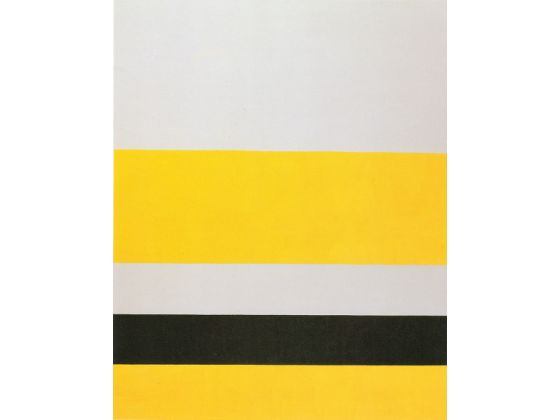 """Untitled"", by John McLaughlin, oil on canvas, 1975."
