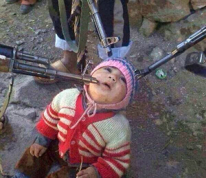 A child about to be murdered by Islamic State.