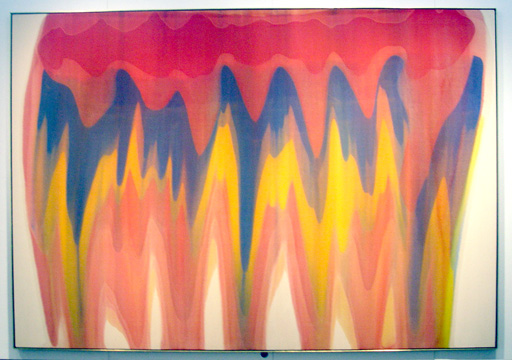 "Like this work of art. ""Saf,"" by Morris Louis, magna on canvas, 98 1/2 by 141 inches, 1959."