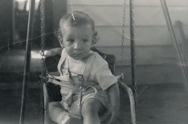 Yours truly in a not so swinging' mood. I actually remember when this pic was taken. We were in the Catskills for a few days Summer vacation. The swing made me nauseous. A few seconds after my father snapped this pic with a Kodak Brownie, a threw up. I've never enjoyed swings.