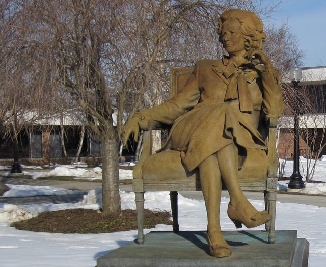 The only public sculpture of British Prime Minister Margaret Thatcher is find at Hillsdale College, a bastion of freedom and genuine education.