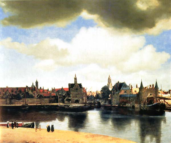 """View of the Delft"" oil on canvas, by Johannes Vermeer, 1662."