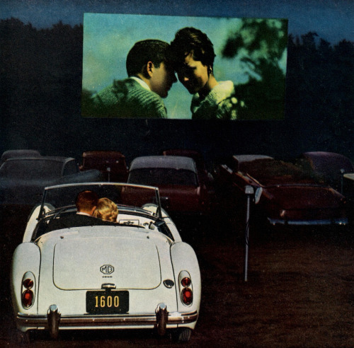 Love in a 1961 MG at the drive-in.