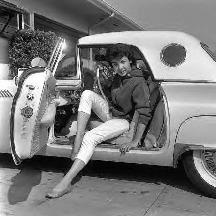 Annette Funicello and her T-Bird.