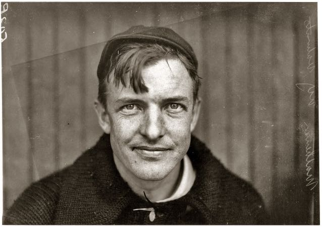 The legendary New York Giants pitcher Christopher  Mathewson, 1910.