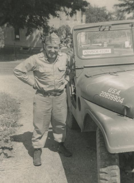 My father, Rabbi Chaplain Abraham Avrech Col. Ret., z'l on duty in the US Army, 42nd Division.