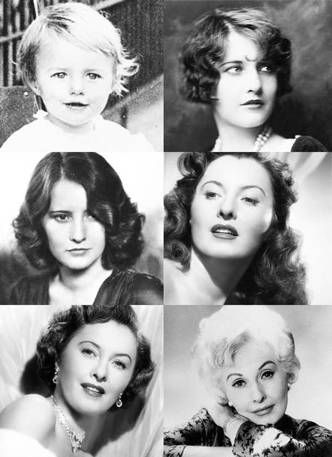 "The ages of Barbara Stanwyck. An Oscar winning actress told me that she never screens any of her old movies. ""It's no fun watching myself get old,"" she explained."