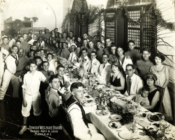 Jewish community in Manila conducting a Passover Seder, 1925