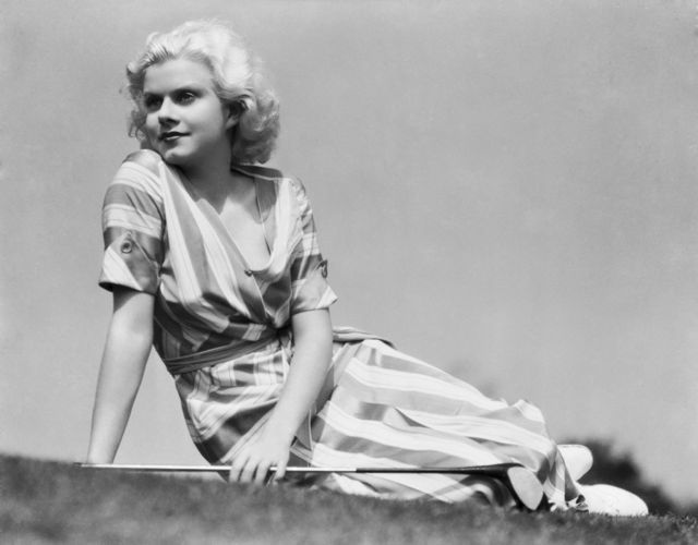 """Men like me because I don't wear a brassiere. Women like me because I don't look like a girl who would steal a husband. At least not for long."" —Jean Harlow"