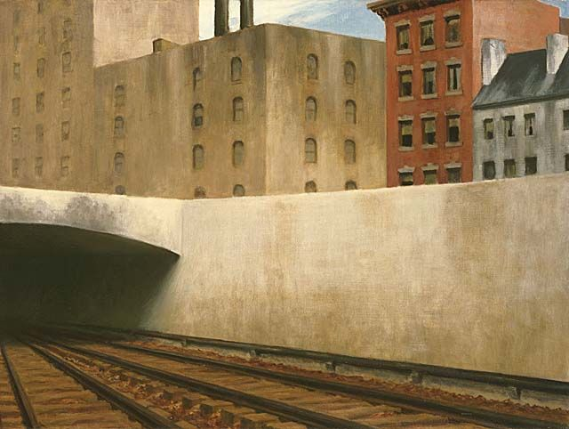 Edward Hopper, Approaching a City, 1946. Oil on canvas, 70 x 80 cm. Phillips Collection, Washington D.C.