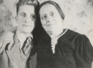 High School student Issur Danielovitch AKA Kirk Douglas with his beloved mother Bryna.