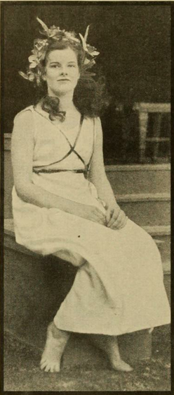 Katherine Hepburn when she was a student at Bryn Mawr.