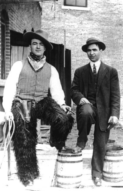 Jewish Hungarian immigrants Adolph and Sam Frankel, c. 1920, in Cushing Oklahoma.