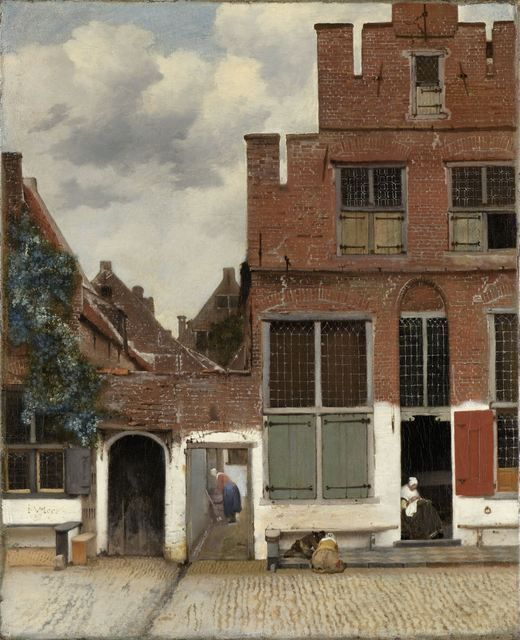 View of Houses in Delft, Known as 'The Little Street' (ca. 1658) by Johannes Vermeer.