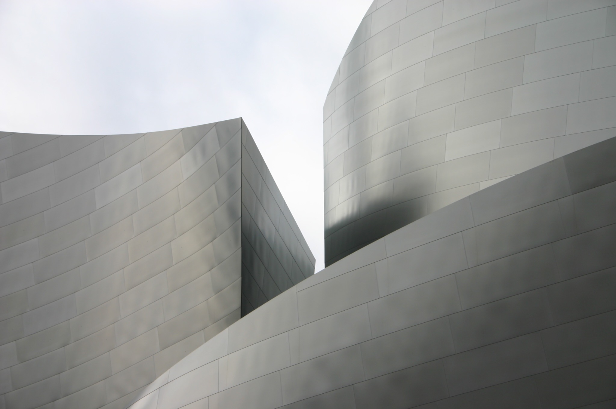 Disney Concert Hall, downtown LA. I took about 100 photos, but this abstracted fragment is my favorite.