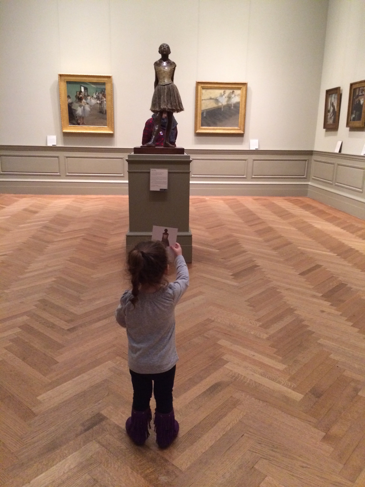Lielle Meital admires the Degas sculpture and wishes all our friends and relatives a lovely Shabbat and a joyous Shavuos.