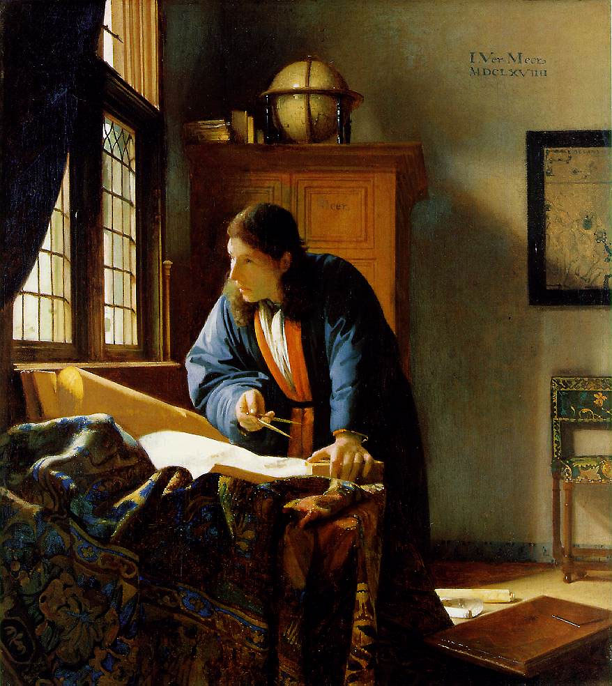 Johannes Vermeer, The Geographer, 1668-69, oil on canvas, 53×47 cm.
