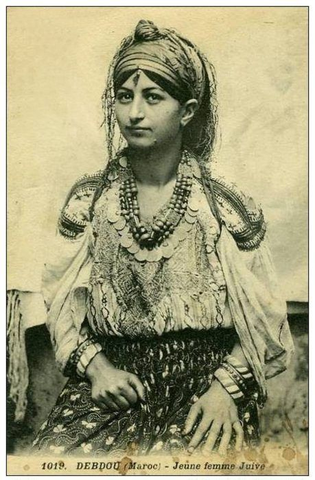 Jewish girl of Debdou, Morocco.