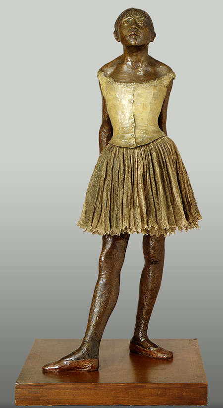 The Little Fourteen-Year-Old Dancer (French: La Petite Danseuse de Quatorze Ans) is a c. 1881 sculpture by Edgar Degas of a young student of the Paris Opera Ballet dance school, a Belgian named Marie van Goethem.