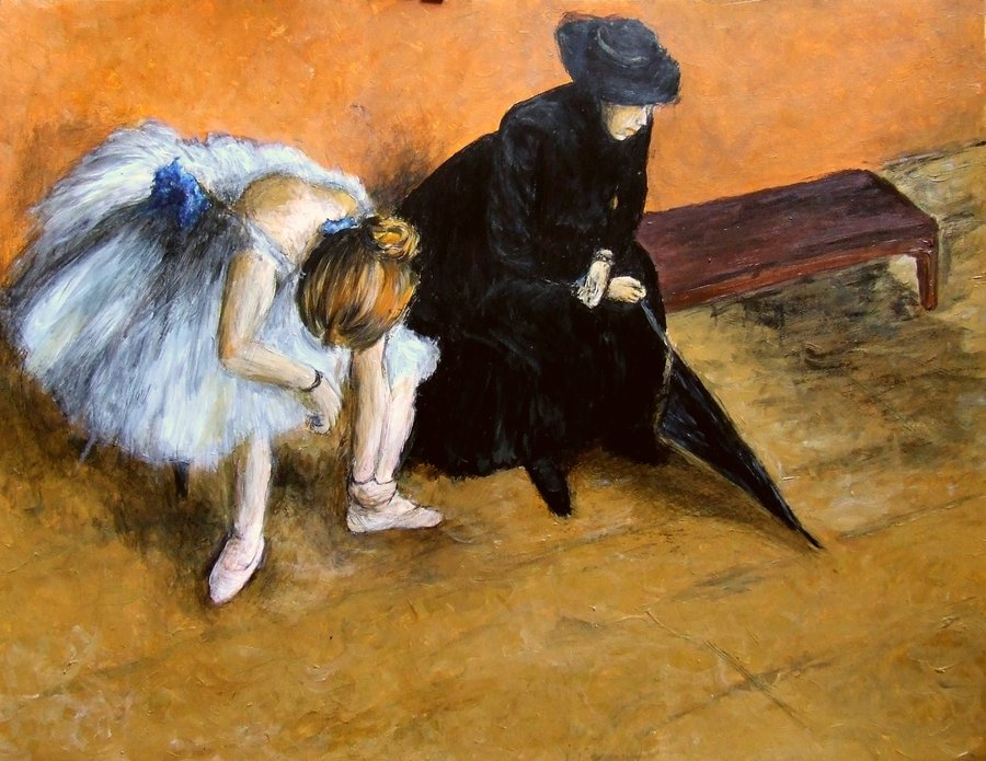 Edward Degas, The Waiting