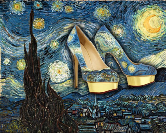 "Freud famously asked, ""What do women want?' Talk about clueless. Women want shoes. And what could be better than this high heeled homage to Van Gogh's visionary art."