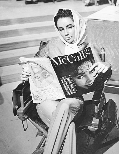 Elizabeth Taylor reads her own interview in McCalls.