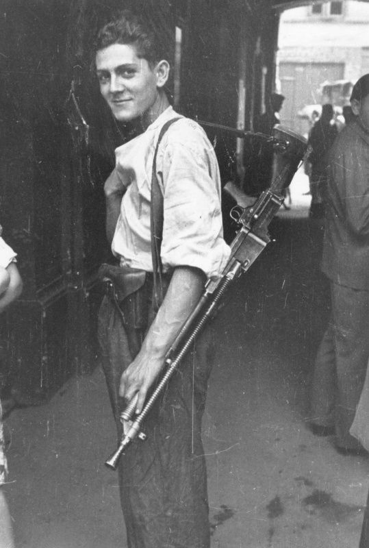 Jewish partisan of the Warsaw Ghetto uprising, 1944 Poland.