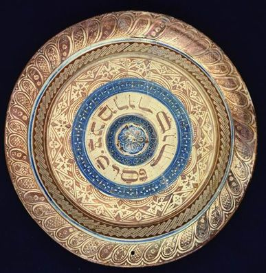 Passover plate, Spain, ca. 1480, earthenware