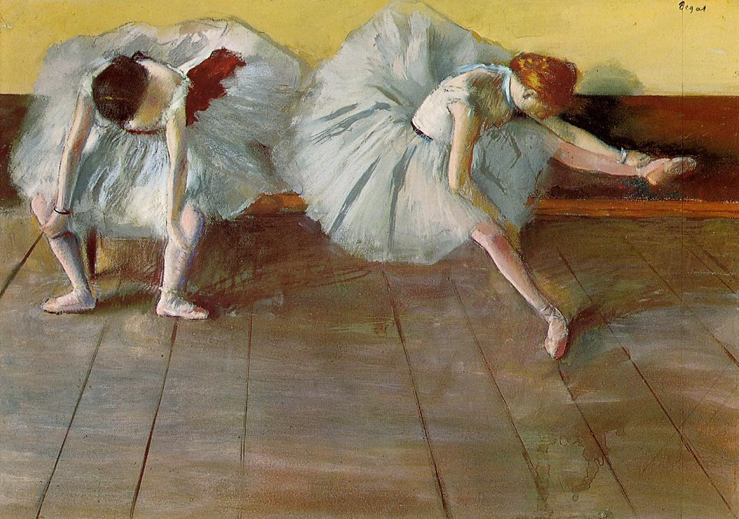 Edgar Degas, Two Ballet Girls, c.1879.