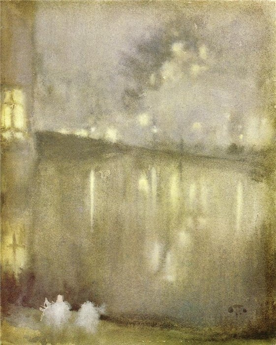 Whistler, Nocturne in Grey and Gold, 1876.