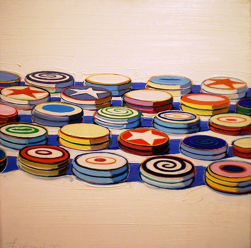 "Wayne Thiebaud, ""Yo Yos,"" 1963 (oil on canvas)"