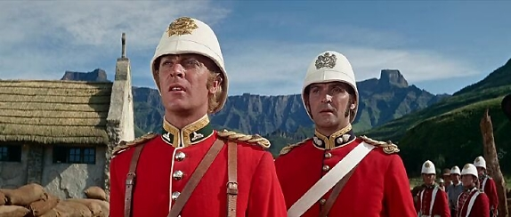Michael Caine and Stanley Baker in Zulu.