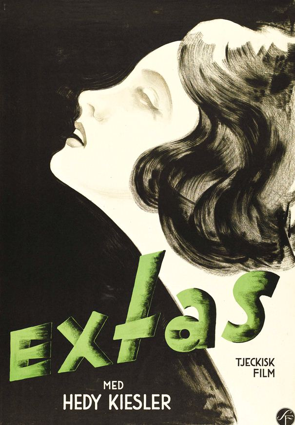 Swedish poster for Ecstasy, starring Hedy Lamarr.